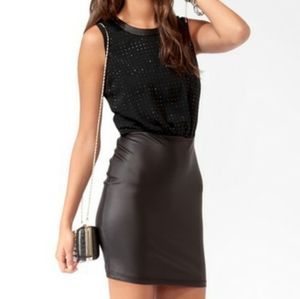 NEW Forever 21 Sequin Faux Leather Dress
